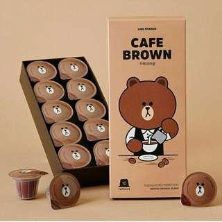 Line Friends Cafe Brown Nespresso Compatible