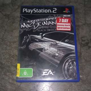 Ps2 game need for speed most wanted black edition