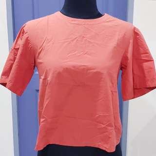 SALE! Uniqlo, Bouse Short Sleeves, Rusty Orange