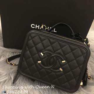 Chanel Vanity Case 黑色 Medium Size