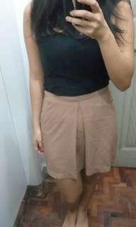 Light Brown Pleated Skirt