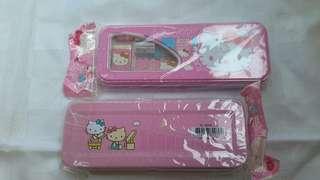 Kotak pensil hello kitty pink