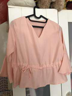 Peach Peplum blouse