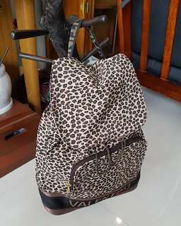 Authentic Valentino Leopard Canvas backpack