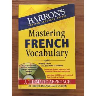 Barron's Mastering French Vocabulary