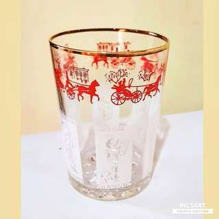 1960s-70s Vintage Black Crown Logo Brandy or Whisky Glasses with Bubble base. It has Englishmen on horse-carriage (Red) and Greek Harp Player (White). Size as in photo. Good Condition, no chip no crack.. All 6pcs for $15 Clearance Offer, sms 96337309.