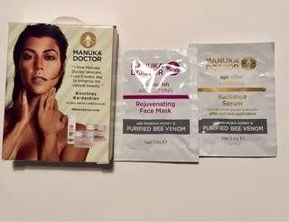 Manuka Doctor Rejuvenating face mask & Radiance (samples)