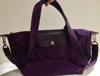Longchamp la pliage ungu size S