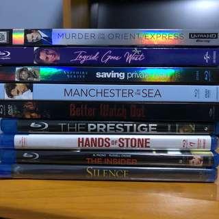 Various Blu-ray Movies