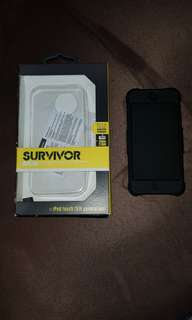 Apple iPod Touch (5th & 6th Gen) Griffin Survivor Skin Black