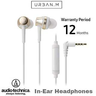 Audio-Technica ATH-CKR50iS In-Ear Headphones (Gold)