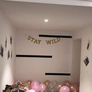 'Stay wild' bachelorette prop