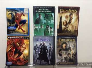 Six Classic DVDs and Blu Ray Hunger Games Trilogy books