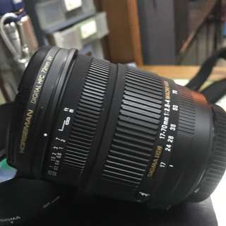 Sigma 17-70 mm for Canon