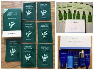 Brand new Innisfree and Laneige package