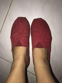 Wakai merah maroon bahan velvet