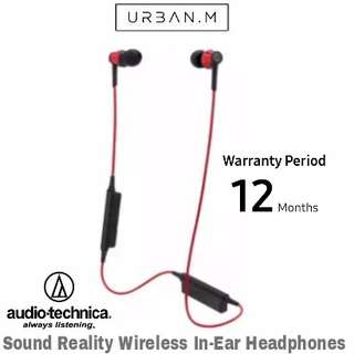 Audio-Technica ATH-CKR35BT Sound Reality Wireless In-Ear Headphones (Red)