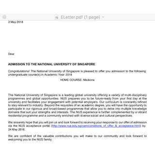 🚚 NUS Medicine & Medical School Application Consultation
