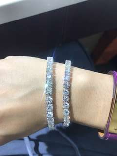 全鑽10 卡 - 40 份/30 份手鏈 Diamond bracelet NOT hermes Cartier Rolex