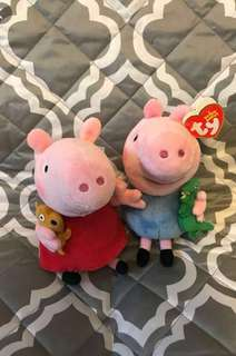 PEPPA AND GEORGE - The Beanie Buddies Collection (6 Inches)