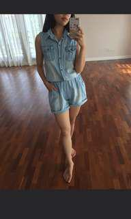 Jean Denim Romper