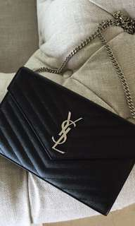 YSL wallet on chain bag