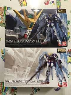 Bandai RG 1/144 XXXG-00W0 Wing Gundam Zero EW & RG 1/144 XXXG-00W0 Wing Gundam Zero EW Pearl Gloss Ver (不散賣)