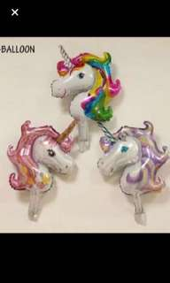 2 sizes unicorn balloon
