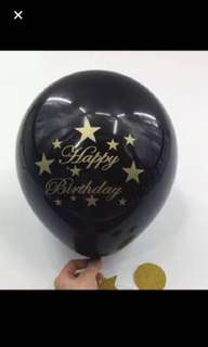 10 inch happy birthday latex balloon