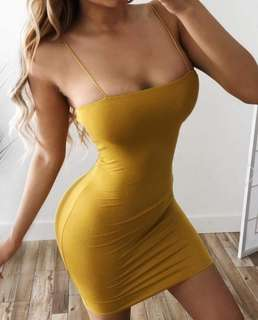 String Bodycon Dress