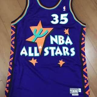 全新 Adidas NBA Grant Hill All Stars 35 Jersey 球衣 波衫 Size L + 2