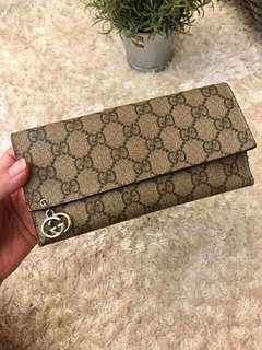 Authentic Gucci Coated Canvass Long Wallet