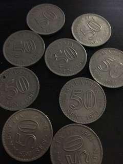 Old Coins - 50 sen Malaysia