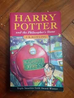 🔴Harry Potter and the Philosopher's Stone British 1st ed. cover