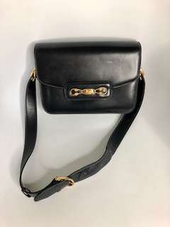 💯真品 Auth Celine vintage leather bag 人氣經典馬鞍袋
