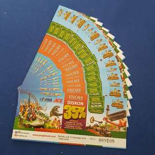 Voucher diskon JUNGLE LAND SENTUL