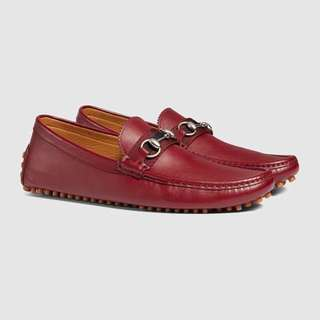 Gucci Horsebit Leather Driver (Red)