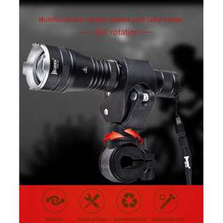 LT35 WUBEN (1200 Lumens) Adjustable Focus Zoomable Flashlight Torch with Bike Mount