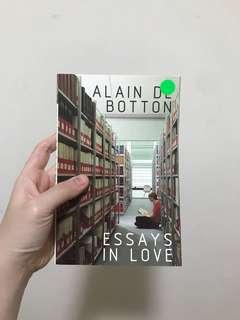 🚚 Essays in Love by Alain de Botton