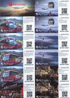 Genting Bus, Cable Car, Food & Beverage voucher