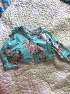 carters floral baby blazer/topper ( 6 mos.)