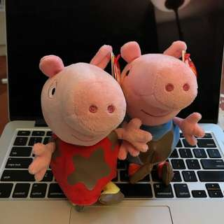 PEPPA AND GEORGE - The Beanie Babies Collection (6 Inches)