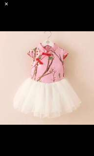 Clearence girl Chinese New Year tutu dress
