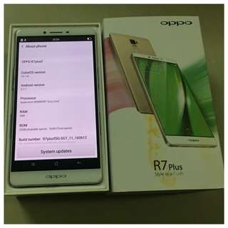 32gb Oppo R7 Plus Gold SGLocal set no dents