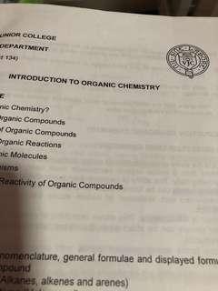 vjc organic chemistry notes - whole syllabus