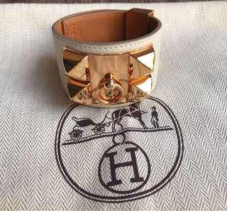 Hermes CDC Craie with Rose Gold HW Bracelet