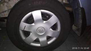 "Toyota Avanza rim & tyre 14"" 185-70-14 with cover tayar"
