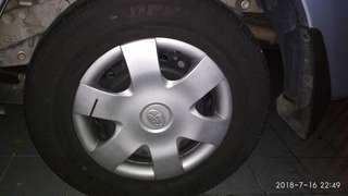"""Toyota Avanza rim & tyre 14"""" 185-70-14 without cover tayar"""