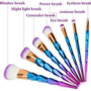 7 pieces Unicorn Make up Brush