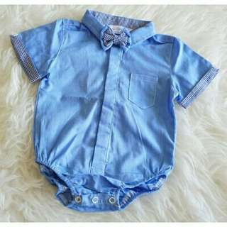 *FREE DELIVERY to WM only / Ready stock* Boy gentlemen romper each as shown in design/color blue tones. Free delivery is applied for this item.